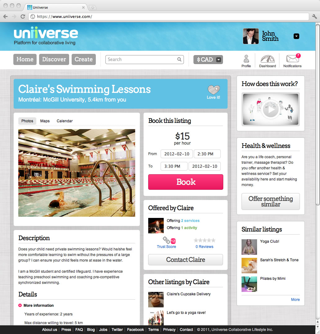 Uniiverse screenshot